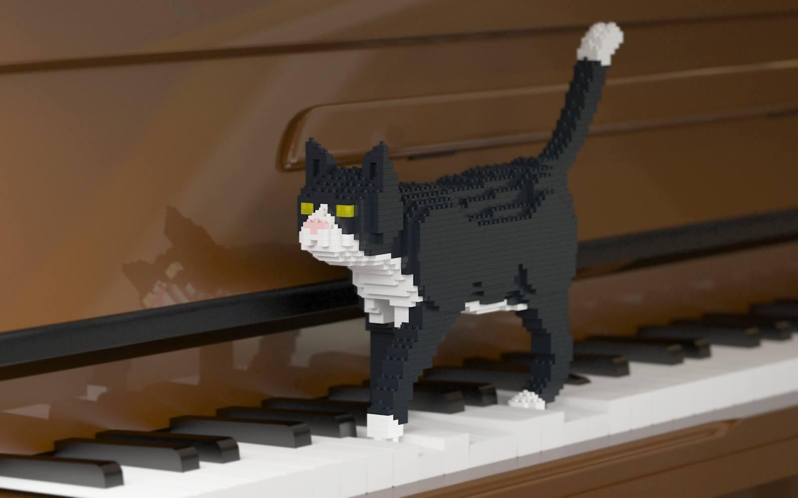 chat en briques lego