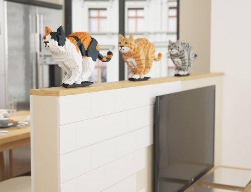 Des sculptures de chats en LEGO grandeur nature