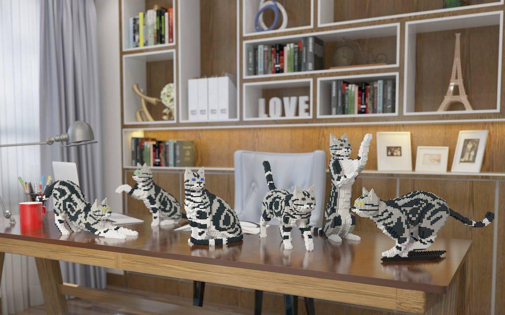 kits de chats en lego